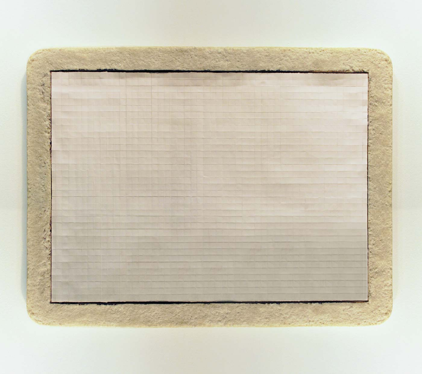 paper, frame on sea salt