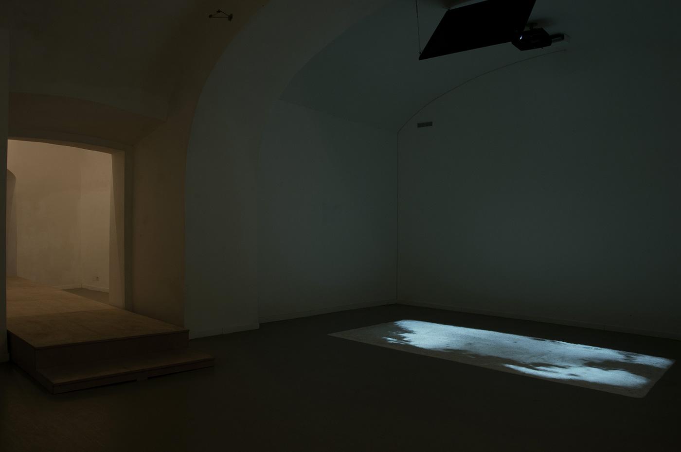 project room 93,248 m³ video-animation, sea salt. 2013