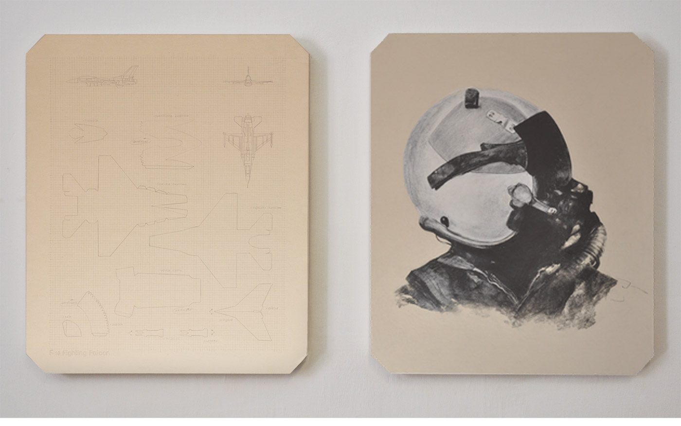 carton plant, graphite, Lascod plaster diptych cm 60 x 72 x 4,5 cad. 2011