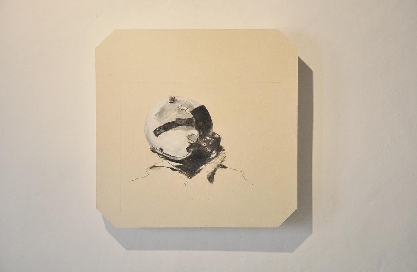 carton plant, graphite, Lascod plaster cm 31 x 31 x 4. 2011